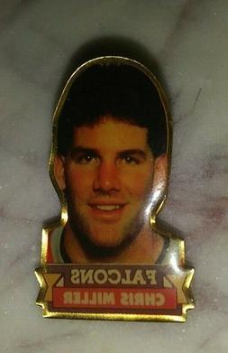 VINTAGE NFL FOOTBALL ATLANTA FALCONS CHRIS MILLER 1990 COLLE